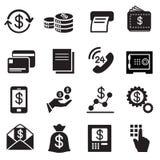 Negocio, finanzas, iconos de la inversión fijados Imágenes de archivo libres de regalías