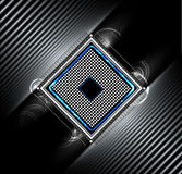 Negocio futurista abstracto de la tecnología de Internet del ordenador del circuito Fotografía de archivo