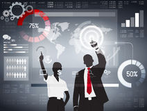 Negocio global que analiza vector libre illustration
