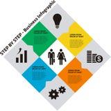 Negocio gradual Infographic con stock de ilustración