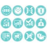 Negocio-iconos Imagen de archivo libre de regalías