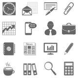 Negocio - iconos de las finanzas y de la oficina Foto de archivo
