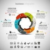 Negocio Infographic Fotografía de archivo