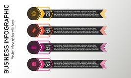 Negocio infographic con los iconos Diagramas, presentaciones y cartas del negocio Fondo del vector Foto de archivo