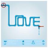Negocio Infographic del tubo de agua para Valentine Day Fotografía de archivo libre de regalías