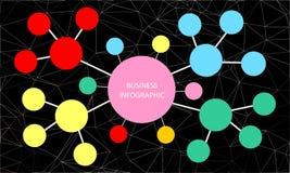 Negocio infographic en malla abstracta poligonal del wireframe del fondo que consisten en triángulos ilustración del vector