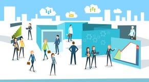 Negocio interior Team People de la oficina de la muchedumbre de los empresarios ilustración del vector