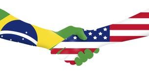 Negocio internacional - el Brasil - los E.E.U.U. Foto de archivo libre de regalías