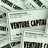 Negocio Investmen de Words Check Money New Company del capital de riesgo  Imagen de archivo