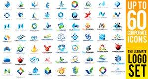 Negocio Logo Set corporativo Imagen de archivo libre de regalías