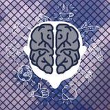 Negocio moderno Brain Concepts In Flat Design Fotos de archivo libres de regalías