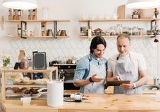 Negocio moderno del café Foto de archivo