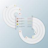 Negocio moderno Infographic del círculo de la curva del infinito Fotos de archivo
