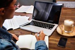 Negocio Person Using Laptop Computer fotografía de archivo