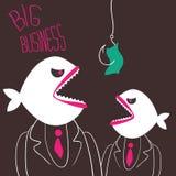 Negocio-pescados enojados Imagen de archivo libre de regalías