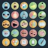 Negocio plano de los iconos Fotos de archivo