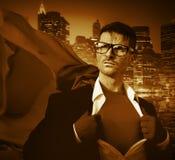 Negocio profesional Victory Concep de la dirección del super héroe fuerte Foto de archivo libre de regalías