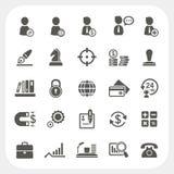 Negocio, recurso humano e iconos de las finanzas fijados Fotografía de archivo libre de regalías
