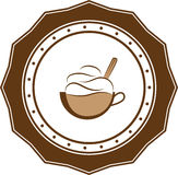 Negocio retro del logotipo del vintage del café ilustración del vector