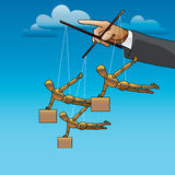 Negocio team_01 stock de ilustración