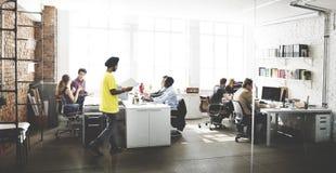 Negocio Team Busy Working Talking Concept Imagen de archivo libre de regalías