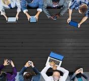 Negocio Team Connection Technology Networking Concept fotografía de archivo libre de regalías