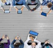 Negocio Team Connection Technology Networking Concept Imágenes de archivo libres de regalías