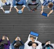 Negocio Team Connection Technology Networking Concept fotos de archivo libres de regalías