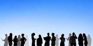 Negocio Team Digital Communication Concept de la comunidad Foto de archivo libre de regalías