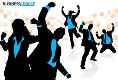 Negocio Team Enjoying Success Imagenes de archivo