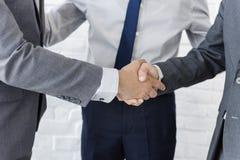 Negocio Team Handshake Collaboration Concept Fotografía de archivo