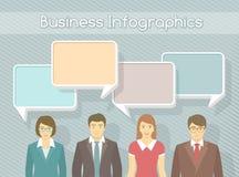 Negocio Team Infographics Elements Fotografía de archivo libre de regalías