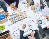 Negocio Team Meeting Brainstorming Planning Concept fotos de archivo