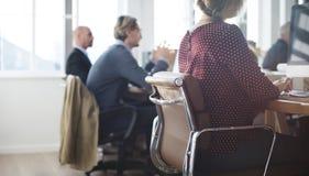Negocio Team Meeting Brainstorming Together Concept foto de archivo