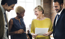 Negocio Team Meeting Discussion Talking Concept foto de archivo libre de regalías