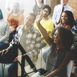 Negocio Team Meeting Seminar Training Concept imágenes de archivo libres de regalías