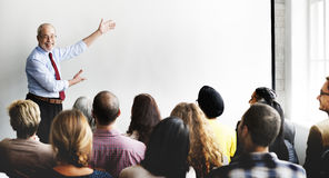 Negocio Team Seminar Listening Meeting Concept imágenes de archivo libres de regalías