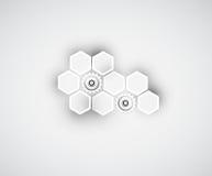 Negocio y desarrollo abstractos del fondo de la tecnología Foto de archivo libre de regalías