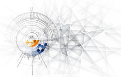 Negocio y desarrollo abstractos del fondo de la tecnología libre illustration