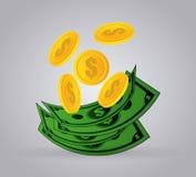 Negocio y diseño del dinero Imagen de archivo libre de regalías