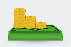 Negocio y diseño del dinero Imagen de archivo