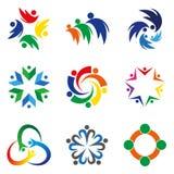 Negocio y logotipo asesor del concepto Imágenes de archivo libres de regalías