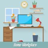 Negocio y lugar de trabajo casero Foto de archivo