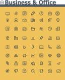 Negocio y sistema del icono de la oficina