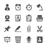 Negocio y sistema del icono del trabajo de oficina, vector eps10 Fotos de archivo