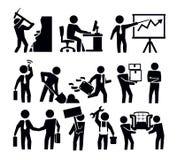 Negocio y trabajador stock de ilustración