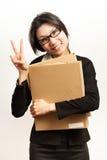 Negocio y trabajadora Imagen de archivo libre de regalías