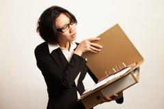 Negocio y trabajadora Imágenes de archivo libres de regalías
