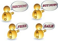 Negocios de los anuncios Imagen de archivo libre de regalías