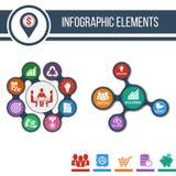 Negocios Plantilla de Infographic o bandera gradual del sitio con los iconos integrados ilustración del vector